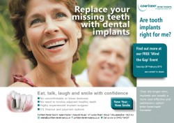 February 28th 2015 come and meet our implant surgeon and team along with many of his delighted patients to learn more about how dental implants could benefit you